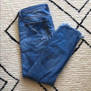 Zara Basic Z1975 Distressed Denim size US 10